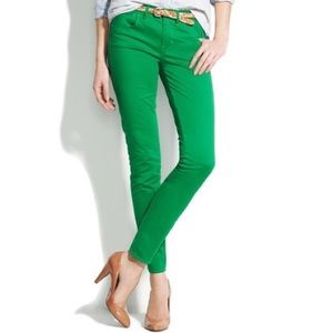Madewell Green Skinny Ankle Jeans 4
